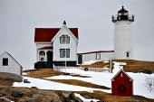 Wintery Nubbles Lighthouse