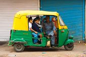 School Children Bus Transportation Auto Rickshaw India