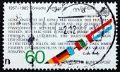 Postage stamp Germany 1982 Text from Treaties of Rome