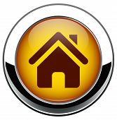 Ícone casa metálico