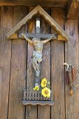 Jesus On The Cross And Sunflowers