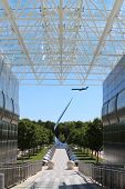 Jet Plane on a pointer at Air & Space Museum