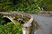 Waikani Falls Bridge, Maui, Hawaii