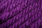 Purple Strands Of Yarn
