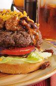 Chili Cheeseburger Closeup