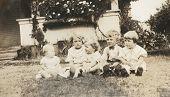 Vintage Kinder Foto