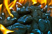 CHARCOAL Briquettes With FLAMES