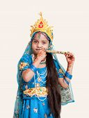 picture of lord krishna  - Girl Krishna  - JPG