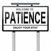 Geduld-Konzept.