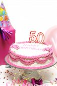 pic of 50th  - A 50th birthday cake for to celebrate someones special day - JPG
