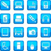 foto of televisor  - Electronic devices vector icon set for web and mobile - JPG