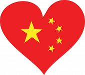 China Flag Heart