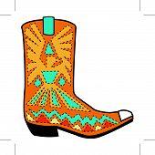 Cowboy Boot Clip-Art
