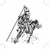 Rodeo Roper Line Art Black And White