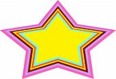 Star Background In 1970's Retro Style