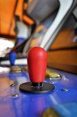 Joystick of a vintage arcade videogame