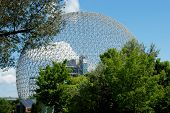 image of geodesic  - The geodesic dome called Montreal Biosphere is a museum dedicated to water and the environment - JPG