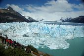 foto of andes  - The Perito Moreno glacier in the Los Glaciares national park in Patagonia - JPG