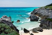 Bermuda's weggestopt Astwood Cove Beach