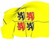 Flag Of Hainaut, Belgium.