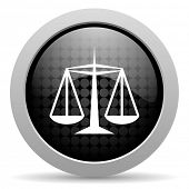 picture of judiciary  - justice black circle web glossy icon - JPG