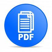 icono brillante del web de círculo azul pdf