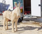 Donkey Wood Carving In Process