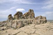 picture of megaliths  - An ancient megalithic observatory Kokino near village Staro Nagoricane Macedonia - JPG
