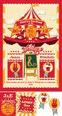 Circus Sideshow Wedding Save the Date Invitation