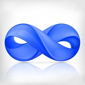 Infinity loop symbol. Infinity spiral sign isolated on white background.