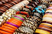 Many Braclets At African Market