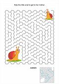Maze game for kids with snails
