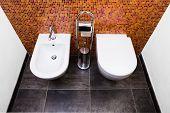 Toilet, Bidet And Paper