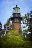 pic of whalehead club  - Artistic shot of the Currituck Beach Lighthouse in Corolla - JPG