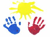 Baby's Picture Of Two Hands As A Gift