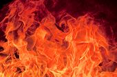 stock photo of dangerous  - Big fire flame as the abstract background - JPG