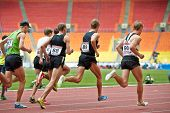 MOSCOW - JUN 11: Men race at Grand Sports Arena of Luzhniki OC during International athletics compet