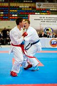 MOSCOW - JUN 9: Fighting episode between male participants of 10th Team Championship of Europe on ka