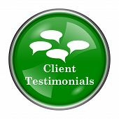 pic of tribute  - Round glossy icon with white design on green background - JPG