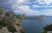 Coastal Cliffs In Crimea.