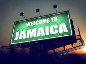 Welcome to Jamaica Billboard at Sunrise.