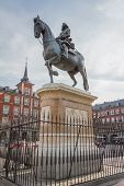 Statue of King Philips III at Plaza Mayor, Madrid