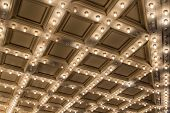 picture of broadway  - Old Historic Broadway Theater Marquee Ceiling Blinking Lights - JPG