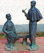Monument To Sherlock Holmes And Dr. Watson, Moscow