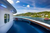 stock photo of thomas  - Beautiful cruise ship view in St - JPG