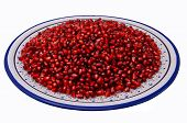 Pomegranate Seeds On A Traditional Tunisian Dish