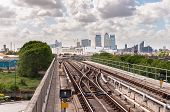 The Railway Tracks Of Docklands Light Railway