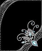 Background Frame With Jewels Of  Silver Ornaments