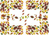 arrangement of multicolor leaves as background