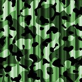 Jungle Camouflage Curtain